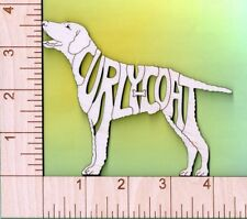 Curly Coated Retriever Dog laser cut and engraved wood Magnet