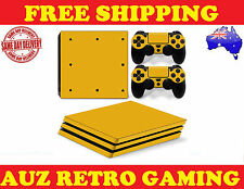 Yellow Gold SKIN DECAL STICKER For PS4 PRO PlayStation Console Controller