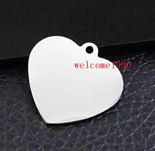 Lot 12pcs Love Heart pendant charms Stainless steel jewelry Findings Accessories