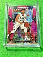 TREMONT WATERS PINK PULSAR PRIZM ROOKIE CARD JERSEY#3 LSU TIGERS 2019 Prizm DP