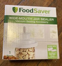 FoodSaver Wide Mouth Mason Jar Vacuum Sealer New! Ships fast! T03-0023-01P