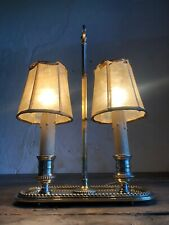 Antique Silver Plated Bronze Table Lamp / Bouillotte. Excellent Quality.