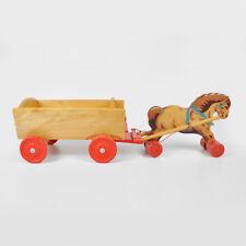 alter Pferdewagen Holz Pferd Anhänger Kutsche Bauernhof Holzspielzeug