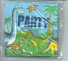 Jurassic Park Cute Dinosaur Party Supplies Napkin/Serviettes 20pk Cocktail Size