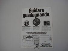 advertising Pubblicità 1981 VEGLIA BORLETTI VACUOMETRO/CONTAGIRI/CRONOGRAFO