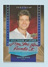 MARTIN KOVE 2008 SPECTRUM OF STARS RED INK AUTOGRAPH AUTO SP RAMBO 2, KARATE KID