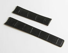 Black crocodile-style watchstrap for TAG Heuer 6000 Series Mid-sized models ONLY