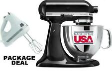 KitchenAid Stand Mixer tilt 5-Quart ksm150psob Artisan Black + Free Hand Mixer