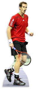 ANDY MURRAY LIFESIZE CARDBOARD CUTOUT STANDEE STANDUP Tennis Star British