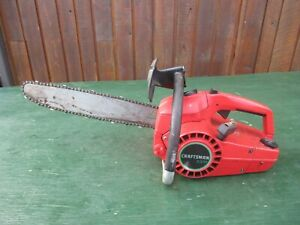 """Vintage CRAFTSMAN 2.3/14"""" Chainsaw Chain Saw with 14"""" Bar"""