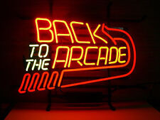 "Back to the Arcade Game Room Neon Light Sign Beer Bar Pub Club Wall Deco 17""x14"""