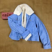 Levi Strauss Blue Corduroy Jacket With Zip Out Sherpa Liner Girls Size Medium