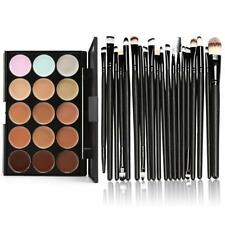15 Colors Contour Face Cream Makeup Concealer Palette Kit 20Pcs Powder Brush Set