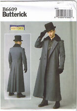 Men Historical Victorian Double Breasted Coat Costume Sewing Pattern 46 48 50 52