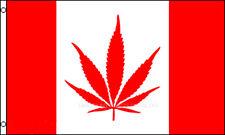 Canadian Canada 3x5 Polyester Marijuana Weed Pot Reefer Hemp Flag