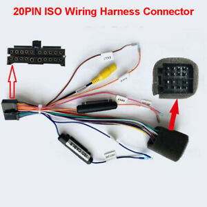 Universal 20PIN ISO Wiring Harness Adapter For Android Car Stereo Radio Player