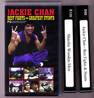 JACKIE CHAN BEST FIGHTS & GREATEST STUNTS VHS - 2 TAPES 1997