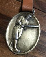 BABE RUTH Antique ELASTICA Bronze Medal NY Yankees Advertising Baseball **RARE**
