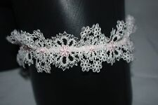 Agent Provocateur ~ CELIA ~ lace wedding bridal garter BNWT Ivory & pink