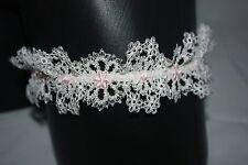 Agent Provocateur ~ CELIA ~ lace wedding bridal garter BNWT Ivory & pink