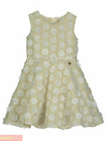 Girls Disney Boutique Belle Gold Flower Party Dress Beauty And The Beast Outfit