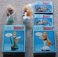 vintage asterix action figures 6207 6211 falbala methusalix mint  boxed