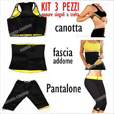 KIT HOT SHAPERS TOP FASCIA PANTALONCINO DIMAGRANTE NEOPRENE PALESTRA SPORT SAUNA
