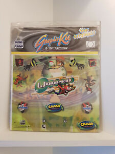 "Graphic Kit (Skin/Sticker) for Sony Playstation 1, ""Crash Bandicoot"" New Sealed"