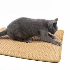 Sisal Cat Scratching Mat Large Scratcher Catnip Post Claw Grinding Pad Protector