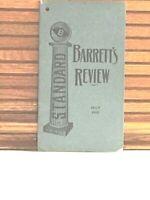 1902 Booklet BARRETT'S REVIEW Barrertt Manufacturing Company Developer of TARVIA
