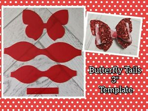 """🎀 3"""" Butterfly 🦋 Tail Bow Plastic Template  🎀"""