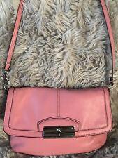 COACH Women's LEATHER FLAP CROSSBODY Shoulder Bag Silver Hardware