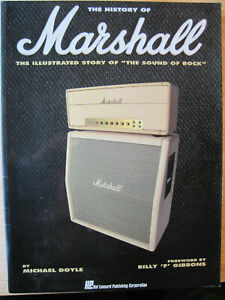 THE HISTORY OF MARSHALL by M.Doyle,Amplifiers,Amps, Music,Rock,signed Marshall.