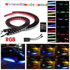 LED Undercar Underbody Underglow Kit Neon Strip Under Car Body Glow Light+Remote