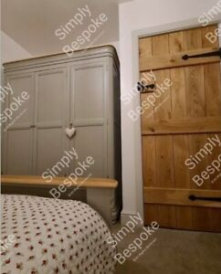SOLID RUSTIC OAK LEDGED DOORS ~ ALL SIZES MADE ~ BESPOKE ~ CHARACTER ~CHARM