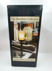 J. Hunt Home Woodbine 18.75-in Dark Oil Rubbed Bronze Uplight Table Lamp