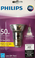 "Philips 5.5-Watt ""Classic Glass"" Par16L Dimmable Bright White Led Flood Light"