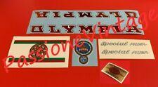 OLYMPIA SPECIAL PIUMA anni 70 Kit decalcomanie  /stickers/adesivi