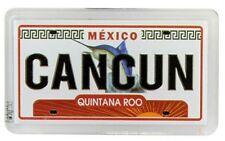 "Cancun Mexico License Plate Fridge Small Acrylic Souvenir Magnet 2"" X 1.25"""