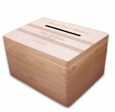 große Holz-Geschenkbox zur Hochzeit Briefbox (2) Geldgeschenke incl. Lasergravur