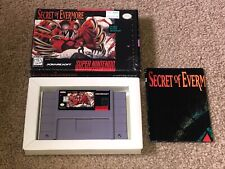 Secret of Evermore Super Nintendo Snes w/Box Cleaned & Tested Near Mint