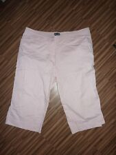 Damen 2x Hose Gr. 44 L XL XXL rosa beige Sommerhose Baumwolle Capri Bermuda 3/4