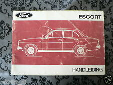 FORD ESCORT 1974 ?   HANDLEIDING OWNERS MANUAL,INSTRUCTION BOOK
