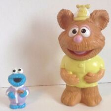 "MUPPET BABIES fozzie bear 1992 vinly VINTAGE 6"" cookie monster pencil topper"