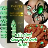 It's Alive! Cool Glow in the Dark Rarity Nail Polish Strips - Halloween! Compare