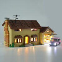 LED Lighting DIY Beleuchtung Licht Für LEGO 71006 Toys The Simpsons House Blocks