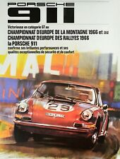 1966 PORSCHE 911 POSTER original factory issued REPRINT 7/91 101x76 cm STRENGER