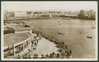 Marine Lake - Weston-Super-Mare, Somerset - Vintage Photographic Postcard