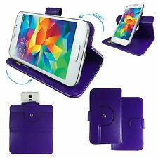 Mobile Phone Book Wallet Case For Philips Xenium X588 - 360 Purple M