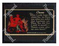Historic WWI Recrutiment Poster The Devil & the Kaiser Postcard